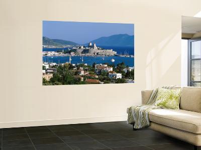 Coastal View and St.Peter's Castle, Bodrum, Aegean Coast, Turkey-Steve Vidler-Wall Mural
