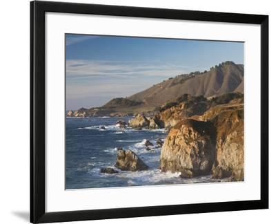 Coastal View by Castle Rock at Sunset, Big Sur Area, Central Coast, California, Usa-Walter Bibikow-Framed Photographic Print