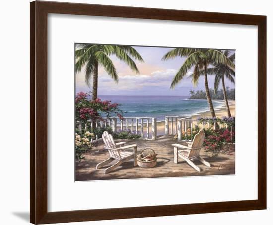 Coastal View-Sung Kim-Framed Art Print