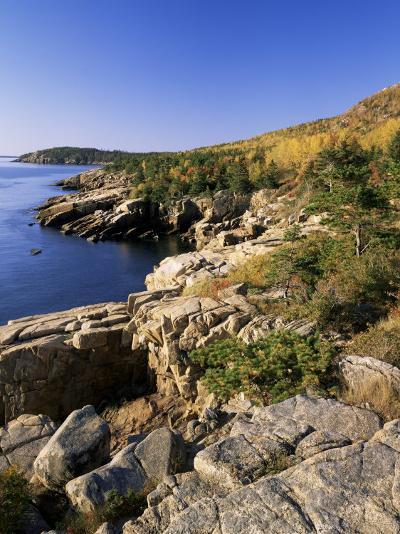 Coastline, Acadia National Park, Maine, New England, USA-Roy Rainford-Photographic Print