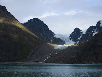 Coastline and Glacier, Greenland, Polar Regions-Milse Thorsten-Photographic Print