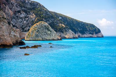 Coastline at Lefkada Island in Greece- rh2010-Photographic Print