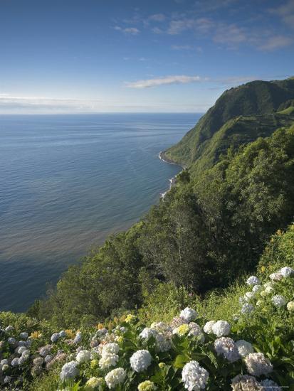 Coastline at Miradouro de Sossego Viewpoint, Sao Miguel Island, Azores, Portugal-Alan Copson-Photographic Print