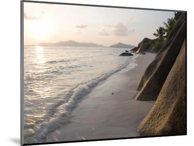 Coastline at Sunset, La Digue Island-Holger Leue-Mounted Photographic Print