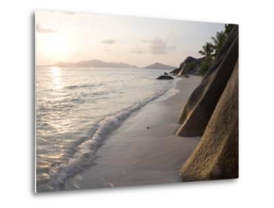 Coastline at Sunset, La Digue Island-Holger Leue-Metal Print