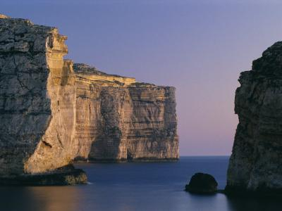 Coastline in the Evening at Dwejra, Gozo, Malta, Mediterranean, Europe-Fred Friberg-Photographic Print