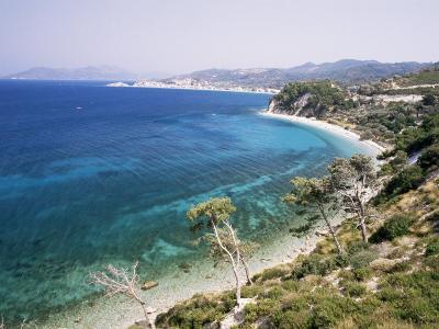 Coastline Near Kokkeri, Island of Samos, Greece-David Beatty-Photographic Print