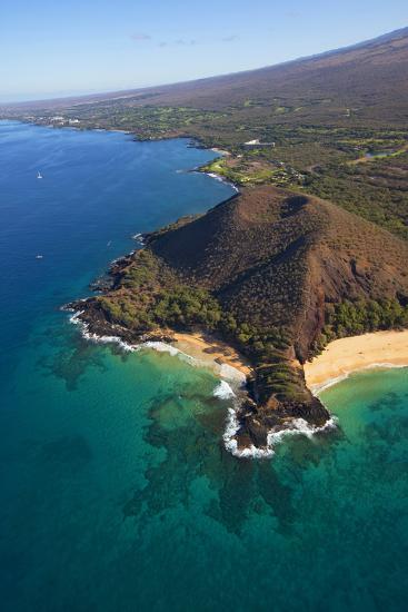 Coastline, Pu'u Olai, Makena Beach, Aka Oneloa Beach and Big Beach, Maui, Hawaii, USA-Douglas Peebles-Photographic Print