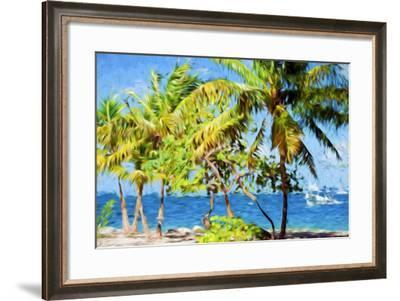 Coastline Summer - In the Style of Oil Painting-Philippe Hugonnard-Framed Giclee Print