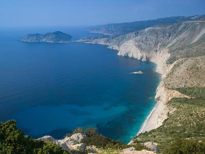 Coastline View, Assos, Kefalonia, Ionian Islands, Greece-Walter Bibikow-Photographic Print