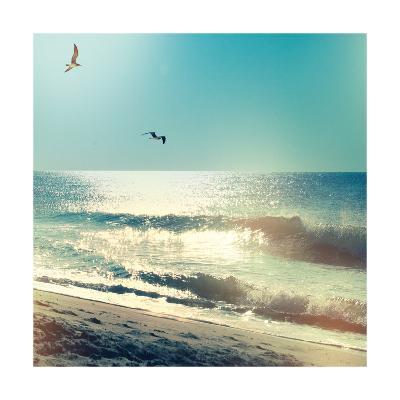 Coastline Waves no Word-Sue Schlabach-Art Print
