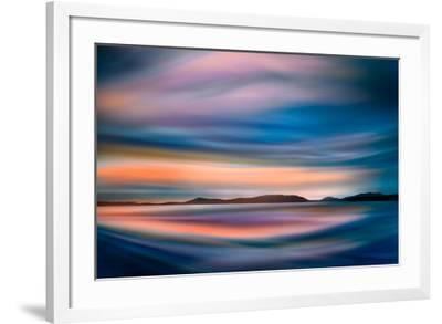 Coastlines (In Blue)-Ursula Abresch-Framed Photographic Print