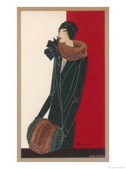 Coat by Patou-C. Benigni-Giclee Print