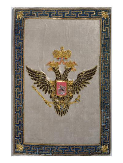 Coat of Arms from the Back Cover of 'The Russian Imperial Family', 1798 (Embroidered Silk)-Russian-Giclee Print