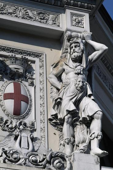 Coat of Arms of Genoa, Decorative Detail from Entrance to Genova Piazza Principe Railway Station--Giclee Print