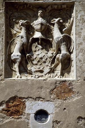 Coat of Arms of Magdelaine-Ragny, Detail from South Facade of Chateau De Corcelles--Giclee Print