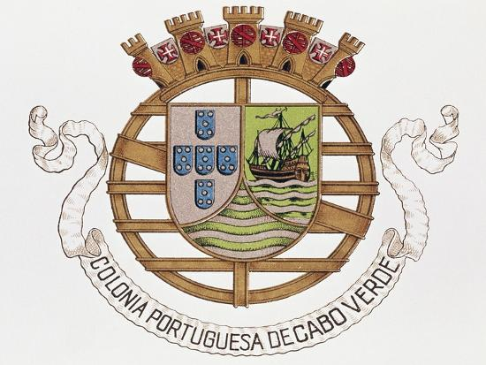 Coat of Arms of Portuguese Colony of Cape Verde--Giclee Print