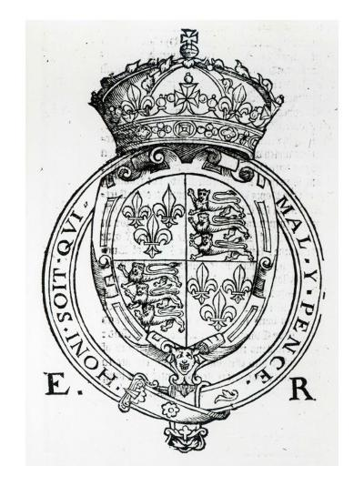 Coat of Arms of Queen Elizabeth I-English School-Giclee Print
