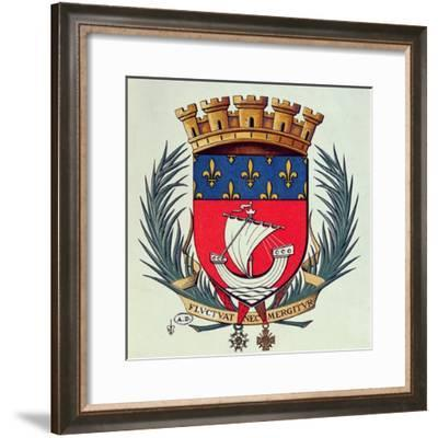 Coat of Arms of the City of Paris with the Motto 'Fluctuat Nec Mergitur'--Framed Giclee Print
