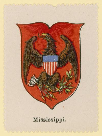 Coat of Arms of the State of Mississippi--Giclee Print