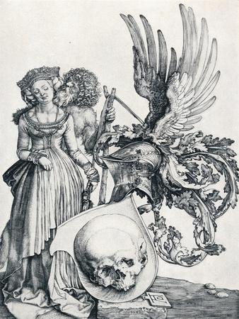 Coat of Arms with a Skull, 1503 Giclee Print by Albrecht Dürer | Art com