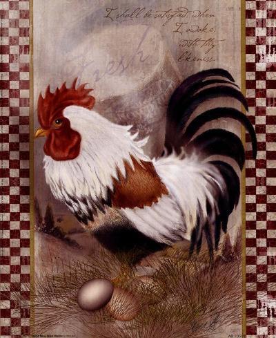 Coat Of Many Colors Rooster-Alma Lee-Art Print