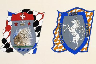 Coats of Arms for Palio of Siena for Istrice--Giclee Print