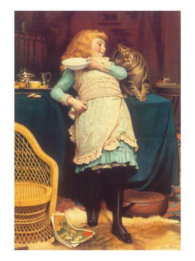Coaxing Is Better Than Teasing, 1883-Charles Burton Barber-Giclee Print