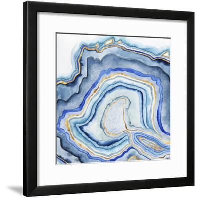 Cobalt Agate I-Grace Popp-Framed Art Print