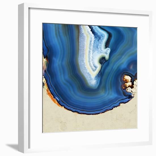 Cobalt Blue Agate B--Framed Premium Photographic Print