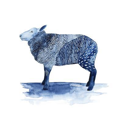Cobalt Farm Animals III-Grace Popp-Art Print
