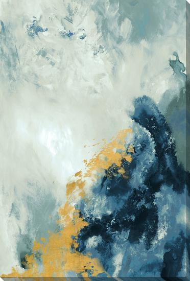 Cobalt Lacuna--Hand Embellished Art