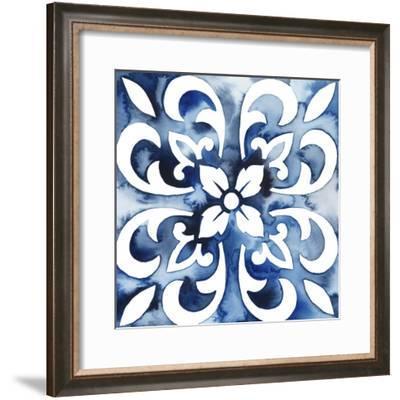 Cobalt Tile II--Framed Art Print