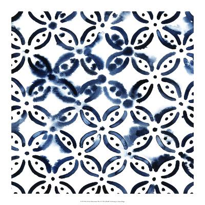 Cobalt Watercolor Tiles I-Grace Popp-Art Print