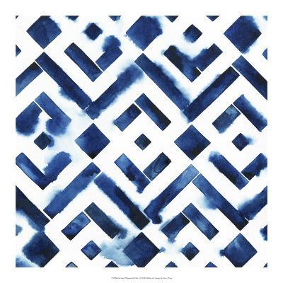 Cobalt Watercolor Tiles II-Grace Popp-Art Print