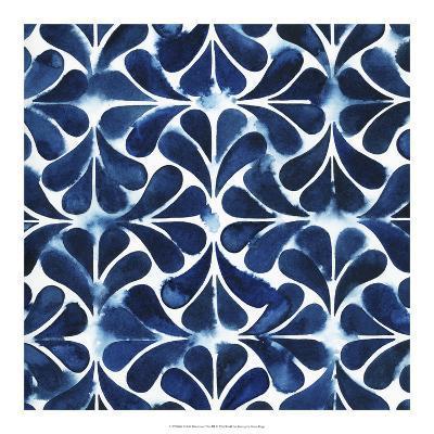 Cobalt Watercolor Tiles III-Grace Popp-Art Print