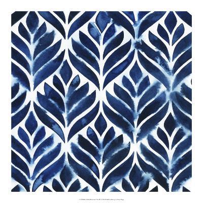 Cobalt Watercolor Tiles IV-Grace Popp-Art Print