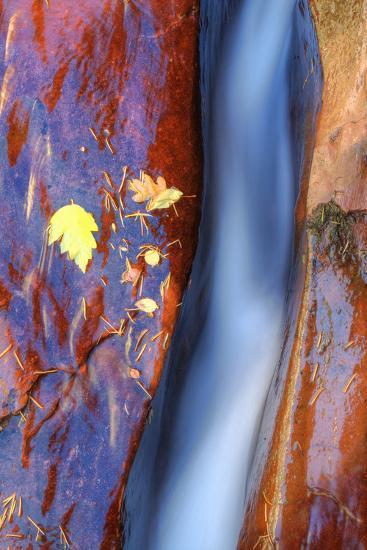 Cobalt Waterflow-Vincent James-Photographic Print
