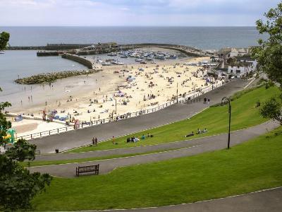 Cobb and Beach at Lyme Regis, Dorset, England, United Kingdom, Europe-Rainford Roy-Photographic Print