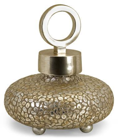 Cobble Gold Lidded Vase - Short