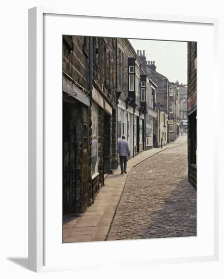 Cobbled Side Street in Otley, Yorkshire, England, United Kingdom, Europe-Nigel Blythe-Framed Photographic Print