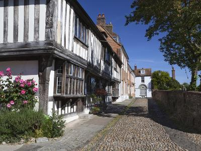 Cobbled Street and Old Houses on Church Square, Rye, East Sussex, England, United Kingdom, Europe-Stuart Black-Photographic Print