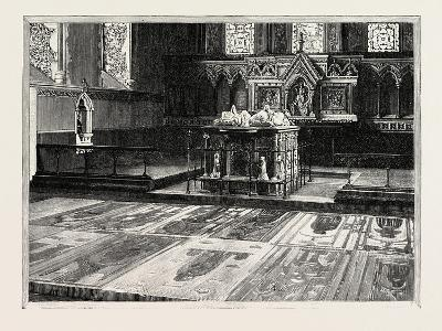Cobham: the Chancel, with Altar-Tomb and Brasses--Giclee Print