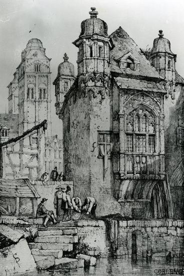 Coblence from Sketches in Flanders and Germany, 1833-Samuel Prout-Giclee Print