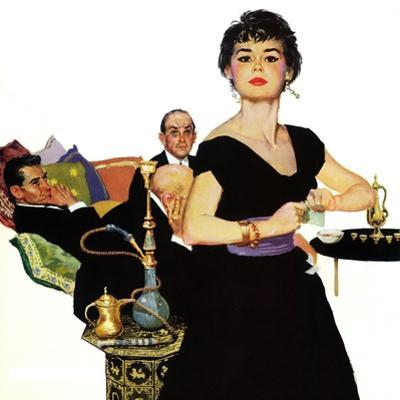 """Auctioned Bride - Saturday Evening Post """"Men at the Top"""", October 16, 1954 pg.34"""