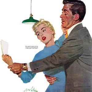 "Decitful Angel  - Saturday Evening Post ""Leading Ladies"", July 16, 1955 pg.21 by Coby Whitmore"