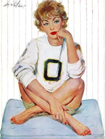 """Father was Overruled - Saturday Evening Post """"Leading Ladies"""", May 24, 1958 pg.36 by Coby Whitmore"""