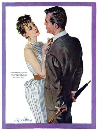 "Inexperienced Male  - Saturday Evening Post ""Leading Ladies"", December 4, 1954 pg.29"