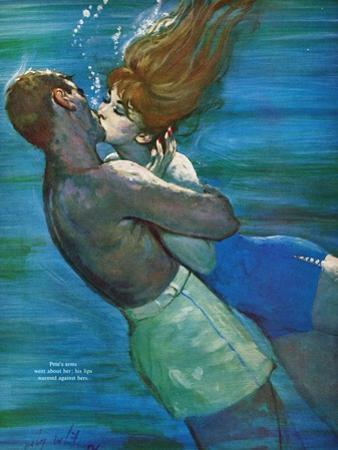"""Love Isn't Logical - Saturday Evening Post """"Leading Ladies"""", December 5, 1959 pg.23 by Coby Whitmore"""