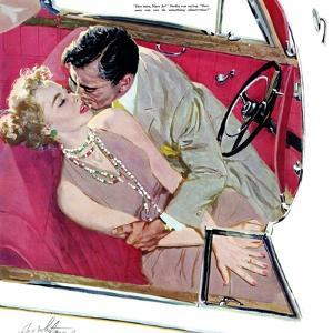 """Second Class Marriage  - Saturday Evening Post """"Leading Ladies"""", July 23, 1955 pg.23 by Coby Whitmore"""
